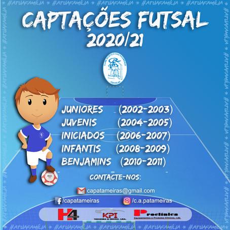 Captações Futsal 2020/21