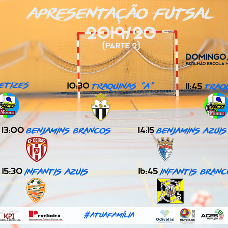 Apresentação Oficial Futsal 2019/20 (parte 2)