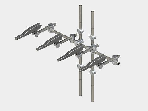 Система креплений для 4-х распылителей