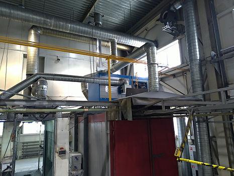 Модернизация печи полимеризации - замена энергоносителя, установка теплогенератора HiTTER