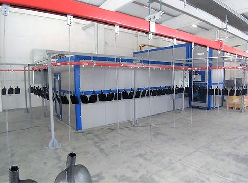 Многоходовая печь полимеризации непрерывного действия HiTTER  с газовым теплогенератором