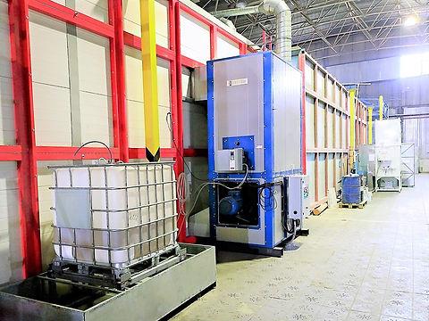 Теплогенератор HiTTER на дизельном топливе для печи полимеризации