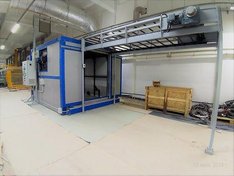 Автоматическая печь сушки на базе теплогенератора HiTTER Е и с параллельной системой перемещения