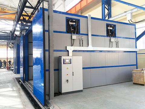 Тактовая печь полимеризации порошковой краски HiTTER с механизированными дверями