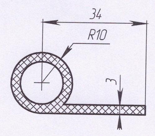 Профиль силиконовый термостойкий, тип-d, D20mm