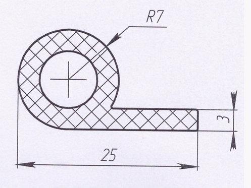 Профиль силиконовый термостойкий, тип-d, D14mm