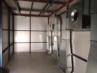 Рабочая зона печи полимеризации АТБ Пром с электрическими нагревателями HiTTER E