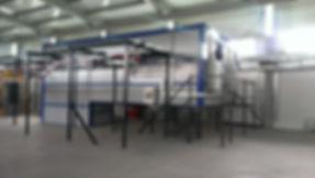 Купольная механизированная печь полимеризации порошковой краски HiTTER