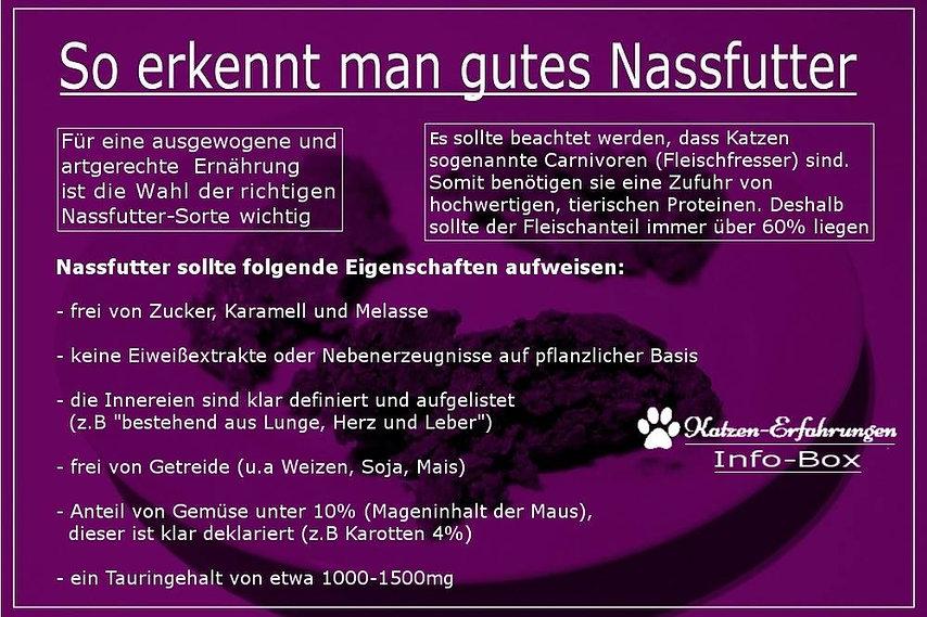 Nassfutter Katzenfutter Empfehlung Liste