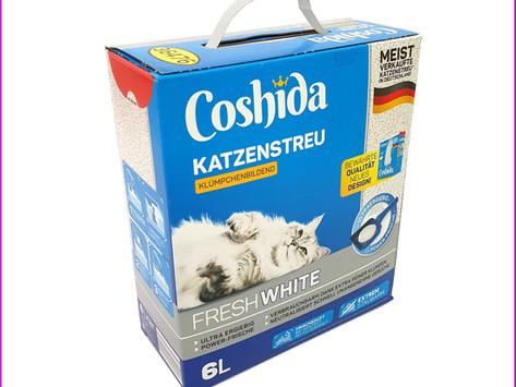 """Coshida """"Ultra Weiß"""" Katzenstreu von Lidl"""