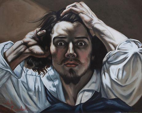 Delphyne V., art, artist, painting, oil painting, paris, courbet, copy, master copy, gallery, psychology, portrait, commission, original