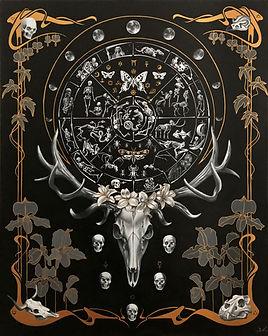 Samsara, delphyne v, roue de la vie, roue de la vie tibétaine, art anatomie, art nouveau