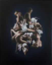 Delphyne V, art, artiste, artiste française, peinture, peinture à l'huile, paris, surréalisme, lowbrow, pop surréalisme, contemporain, moderne, galerie, beaux arts, original, disponible, environement, biodiversité, conservation, protection, activiste, organique, baroque, rat albinos, lapin albinos, laboratoire, versus, test laboratoire, femme nue