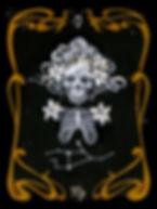 vierge astrologie, signe zodiac squelette, art nouveau squelette, anatomie art, delphyne v