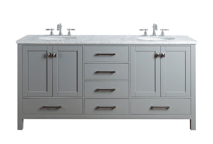 """72"""" Malibu Grey Double Sink Vanity"""