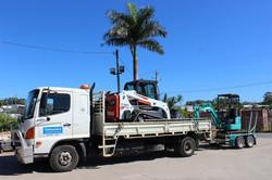 Posi Track Excavator Tipper Wet Hire Combo