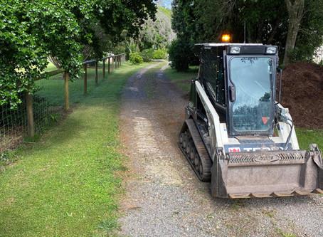 Recycled asphalt driveway