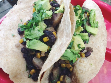 Easy Cilantro Black Bean Vegan Tacos
