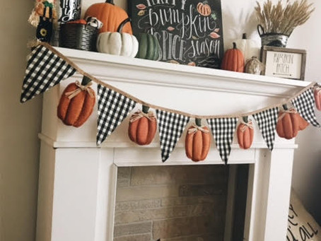 Festive Fireplace For Fall!