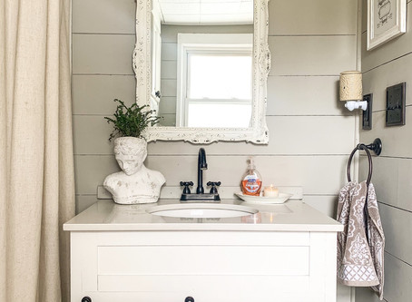 Bathroom Shiplap Reveal