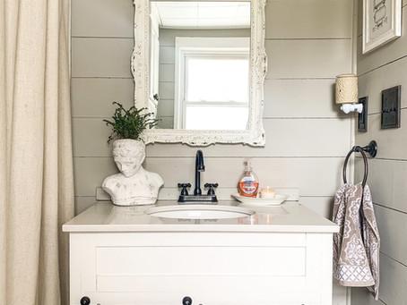 Bathroom Shiplap Reveal