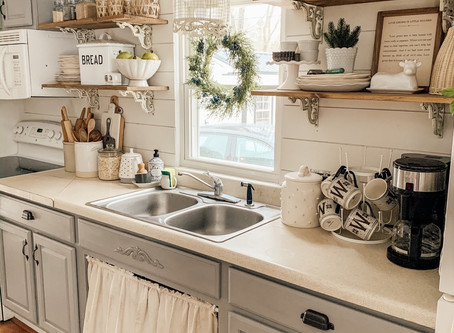 Styling Open Kitchen Shelves