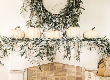 Cozy Fall Mantle ✨🤍🌿🕯