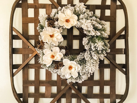 DIY Neutral Christmas Wreath 🎄
