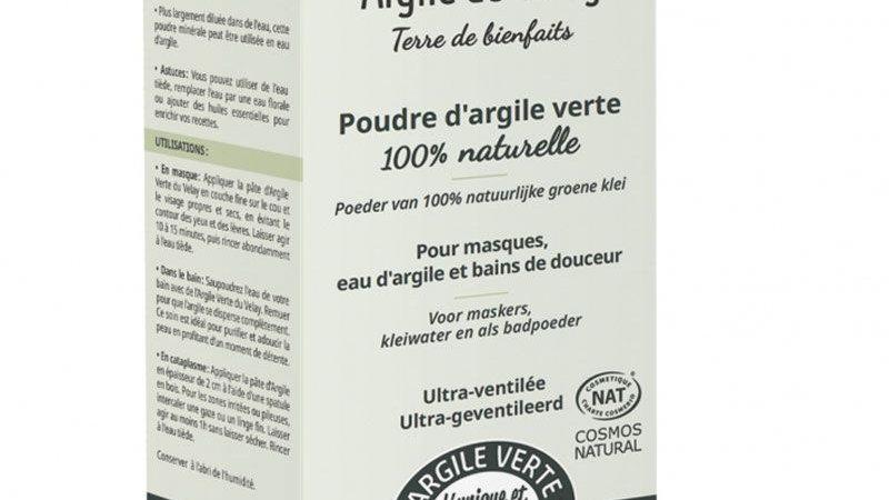Poudre d'argile verte - Argile du Velay