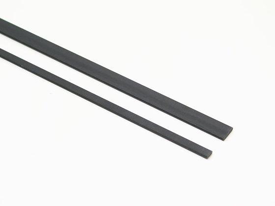 BARRA CARBONIO PIATTA 0.6x3mm /1M