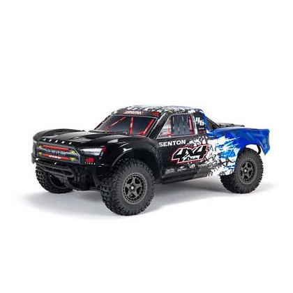Arrma Senton 4X4 V3 3S BLX 1/10 RTR Brushless SC Truck (blu) w / Spektrum
