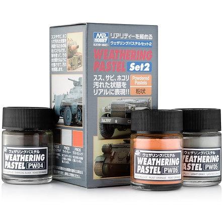 GU.PP102 Mr Hobby Weathering Pastel Set 2