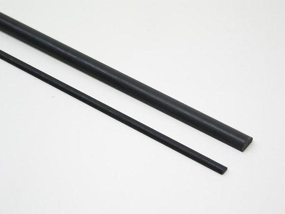BARRA CARBONIO SEMI TONDA 3.0x 1.5mm/1m