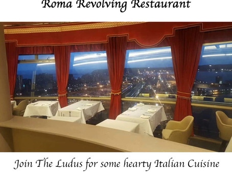 Join Ludus for a casual dinner at Roma Revolving Restaurant
