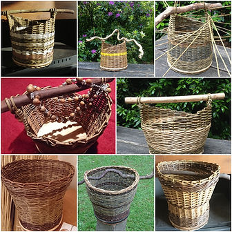 Wood Handled and Kindking Baskets