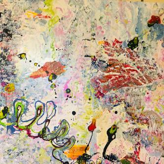Flower garden 200x150cm. oil on canvas,