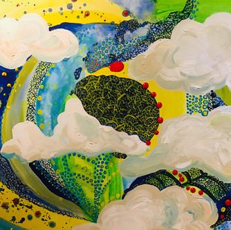 Folktale 150x100cm, acrylics on canvas,