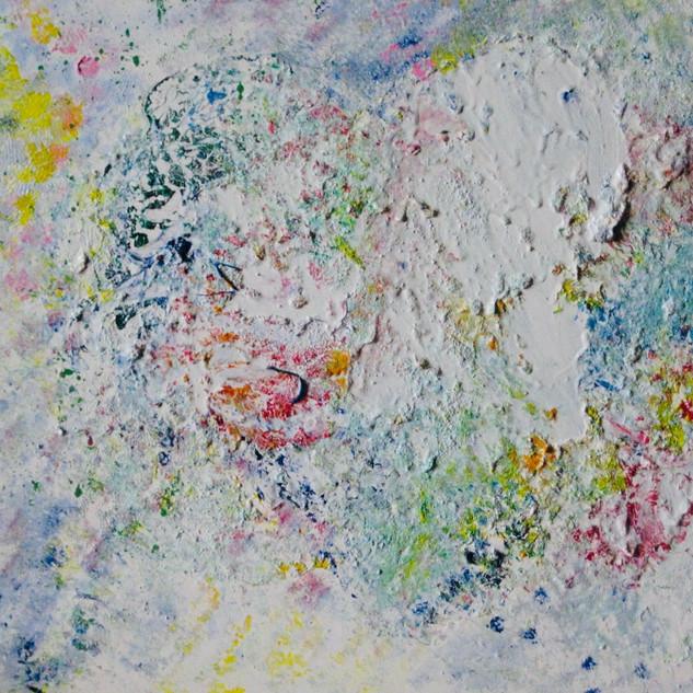 Love 50x70 cm. Mixed technique on canvas