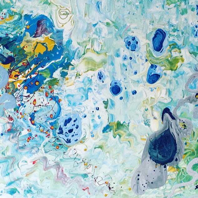 Blue 100x150cm. Oil on canvas, already d