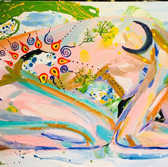 I bend to my Mother Earth 140x56cm. Mixe