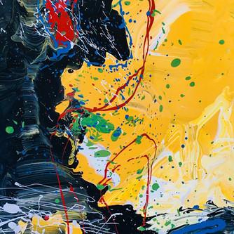 Purification 70x35cm. oil on canvas, sol