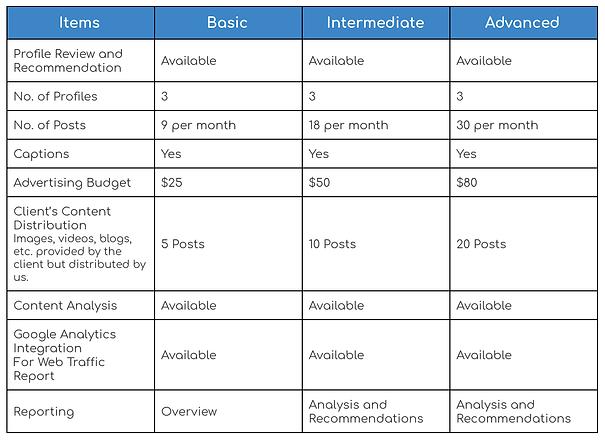 Social Media Management Service Levels.p