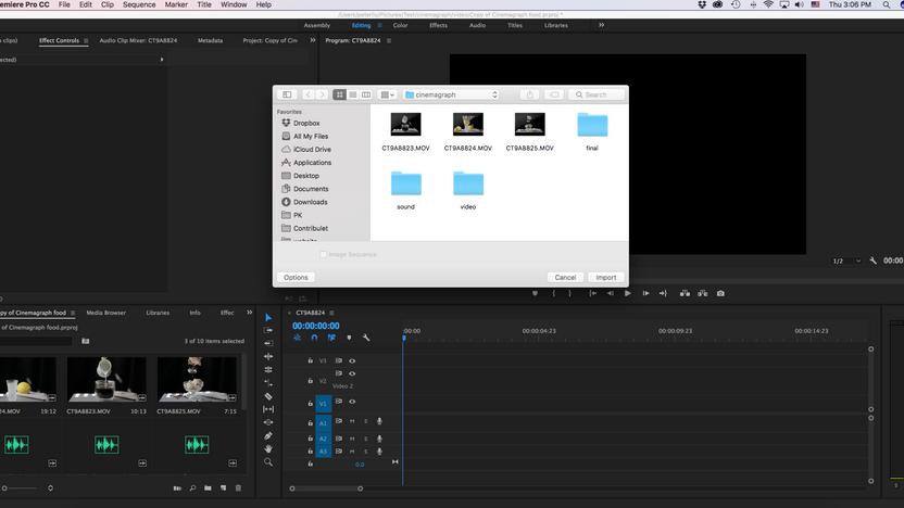 會動的照片! 如何用Adobe Premiere 製作Cinemagraph