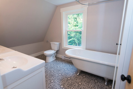 New bathroom in a 100 year old home.