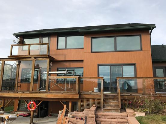 Sagiper composite siding Laflamme windows
