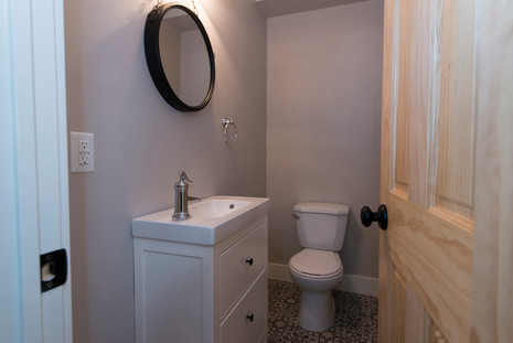 New powder room in a 100 year old home.