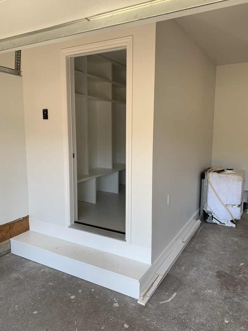 New mudroom in garage
