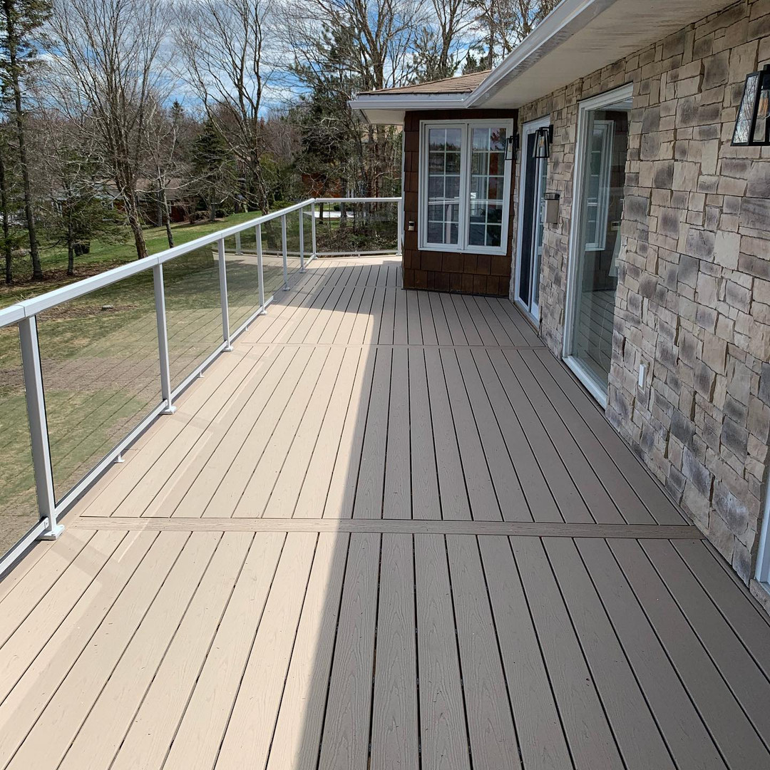 Trex deck with fusion stone work