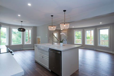 Previous addition and walls removed to create a bright and spacious kitchen for this 100 year old home.