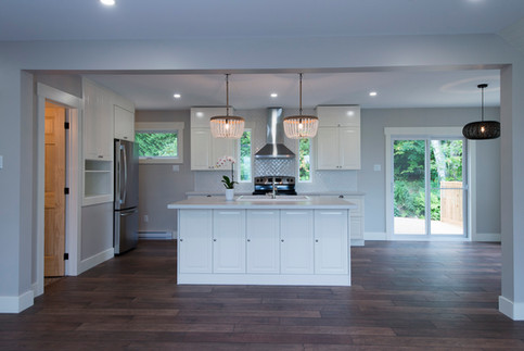 Bright and open kitchen in this 100 year old home.